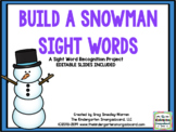 Build A Snowman Sight Words