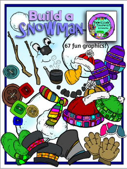 Build a Snowman Clipart *Bargain Priced* (Embellish Yourself Artworks)