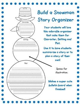 Build a Snowman Story Organizer!  No Prep!