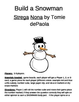 Build a Snowman Strega Nona Game