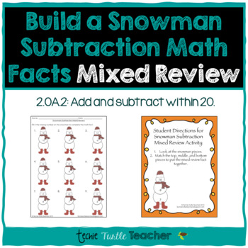 Build a Snowman - Subtraction Facts - Mixed Review (1-20)