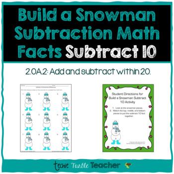 Build a Snowman - Subtraction Facts - Subtract 10
