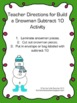 Build a Snowman - Subtraction Facts - Subtract 10