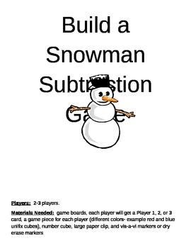 Build a Snowman Subtraction Game