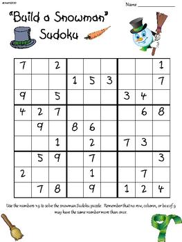 Snowman Sudoku Upper Elementary