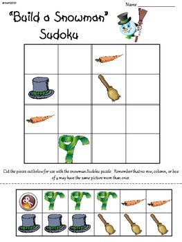 Snowman Primary Sudoku