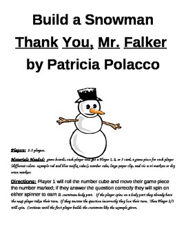 Build a Snowman Thank You, Mr. Falker Game