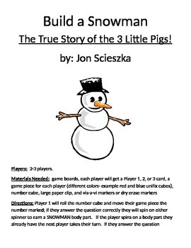 Build a Snowman The True Story of the 3 Little Pigs! by Jon Scieszka