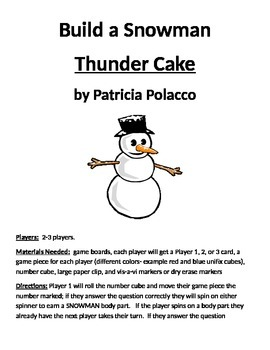 Build a Snowman: Thunder Cake by Patricia Polacco