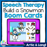Build a Snowman Winter Boom Cards for Speech Therapy
