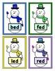 Build a Snowman Short Vowel Word Reading Game - CVC Short 'e'