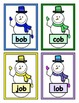 Build a Snowman Short Vowel Word Reading Game - CVC Short 'o'