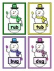 Build a Snowman Short Vowel Word Reading Game - CVC Short 'u'