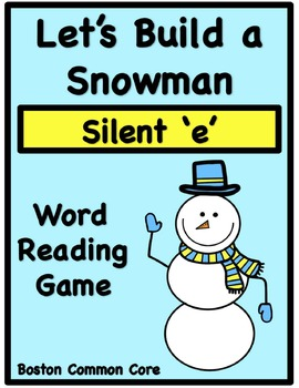 Build a Snowman Word Reading Game - Silent 'e'