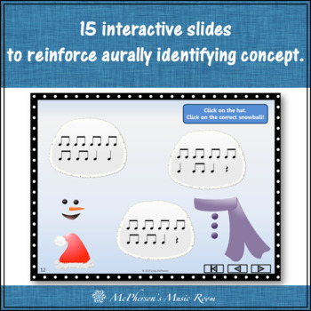 Winter Music Game: Eighth Notes Interactive Rhythm Game {Build a Snowman}