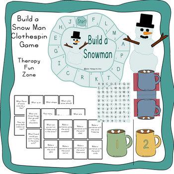 Build a Snowman fine motor game