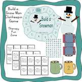 Build a Snowman fine motor game