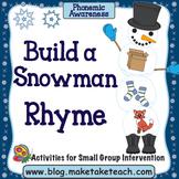 Rhyme - Build a Snowman
