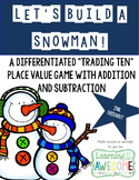 Trading ten place value game - Winter Theme