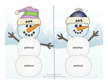 Build a Snowman with Homonyms