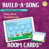 """Build-a-Song Rhythm Edition """"Bee, Bee Bumblebee"""" Distance Learning Boom Cards"""
