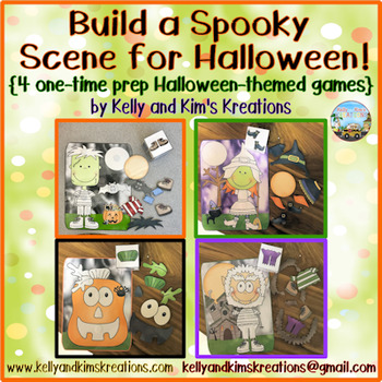 Build a Spooky Scene for Halloween! {4 one-time prep Halloween-themed games}