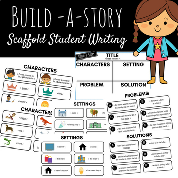 Build a Story Student Writing - Title, Characters, Setting, Problem, Solution