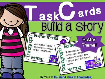 Build a Story Task Cards {12 cards with sentences for sorting}