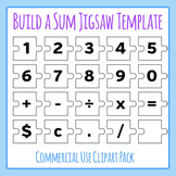 Build a Sum Number Jigsaw Puzzle Template - Commercial Use Clip Art Set