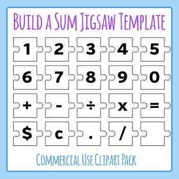 Build a Sum Number Jigsaw Puzzle Template - Commercial Use