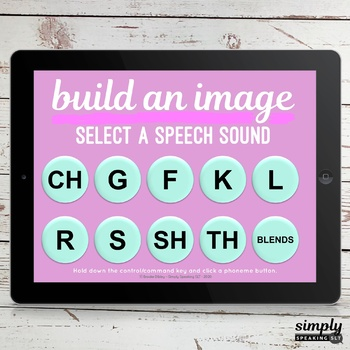 Build a Summer Image No Print Speech and Articulation Boom Card Puzzle Game