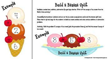 Build a Sundae, Addition & Subtraction