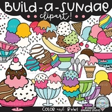 Build-a-Sundae Clipart {ice cream clipart}