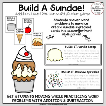 Build a Sundae Word Problem Game (Editable Version Included)
