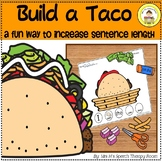 Build a Taco Activity To Increase Sentence Length in Speech Language Therapy