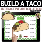 Cinco De Mayo Build a Taco Interactive Articulation Activity Speech Boom Cards™
