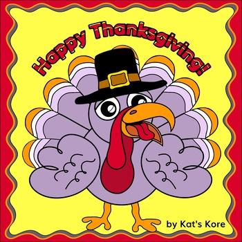 Build a Thanksgiving Turkey! Color-Cut-Paste Activity