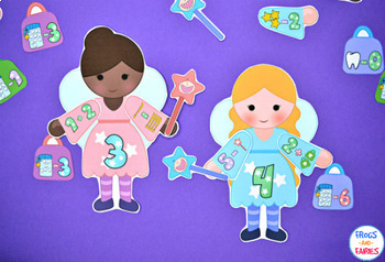 Build a Tooth Fairy Addition & Subtraction Match