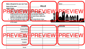 Build-a-Town: A Midpoint, Distance, and Slope Google Integrated Activity