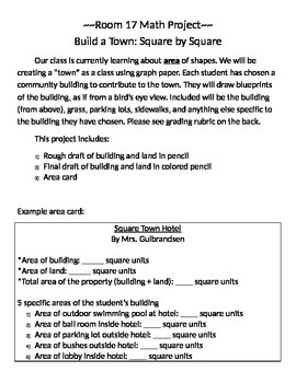Build-a-Town Area Class Project