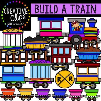 Build a Train {Creative Clips Digital Clipart}
