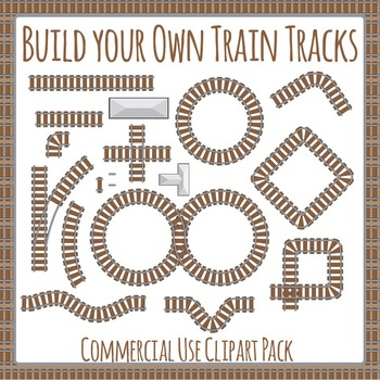 Build a Train Track Clip Art Pack for Commercial Use