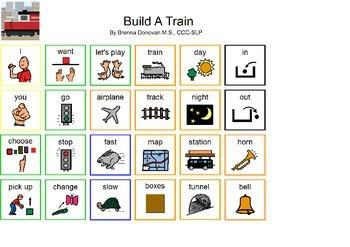 Build a Train App Communication Board for iPad