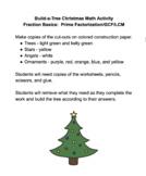 Build-a-Tree Christmas Math Activity (Fraction Basics)