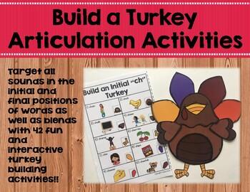 Build a Turkey Articulation Activities