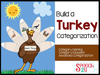 Categorization, Category Exclusion, Build a Turkey Thanksgiving