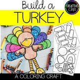 Build a Turkey Craft: Thanksgiving Coloring Pages