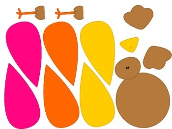 Build-a-Turkey! Thanksgiving Dice Counting Game