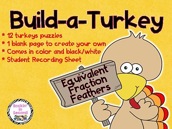 Build-a-Turkey Equivalent Fractions