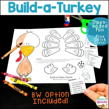 Build a Turkey Game: Thanksgiving Speech and Language Activity for Any Goal